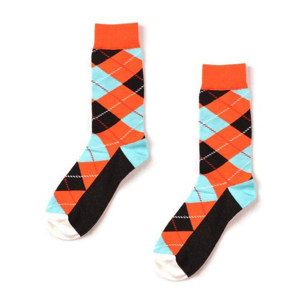 Argyle Funky Patterned Socks