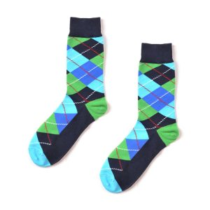Argyle Funky Patterned Socks