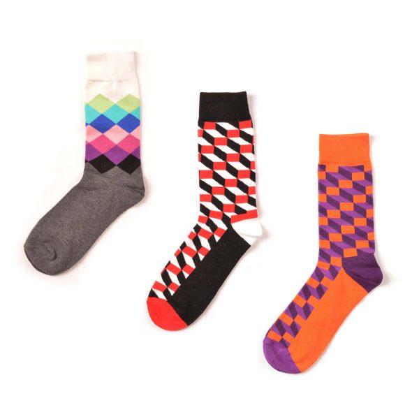 Funky Patterned Sock Box