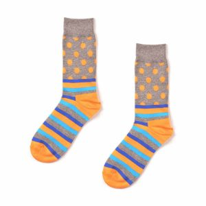 Polka Dot & Striped Funky Patterned Socks