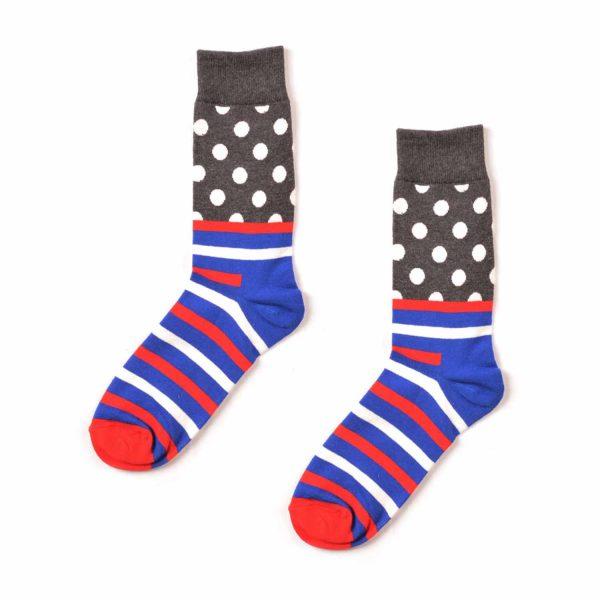 Polka Dot & Striped Funky Patterned Socks